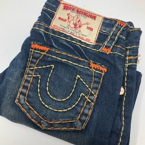 True Religion Billy Big T Boot Cut Blue Jeans